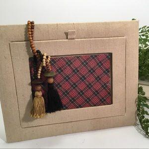 Canvas and Beaded Tassle Frame